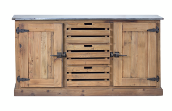 Wood Cabinet with Black Hardware