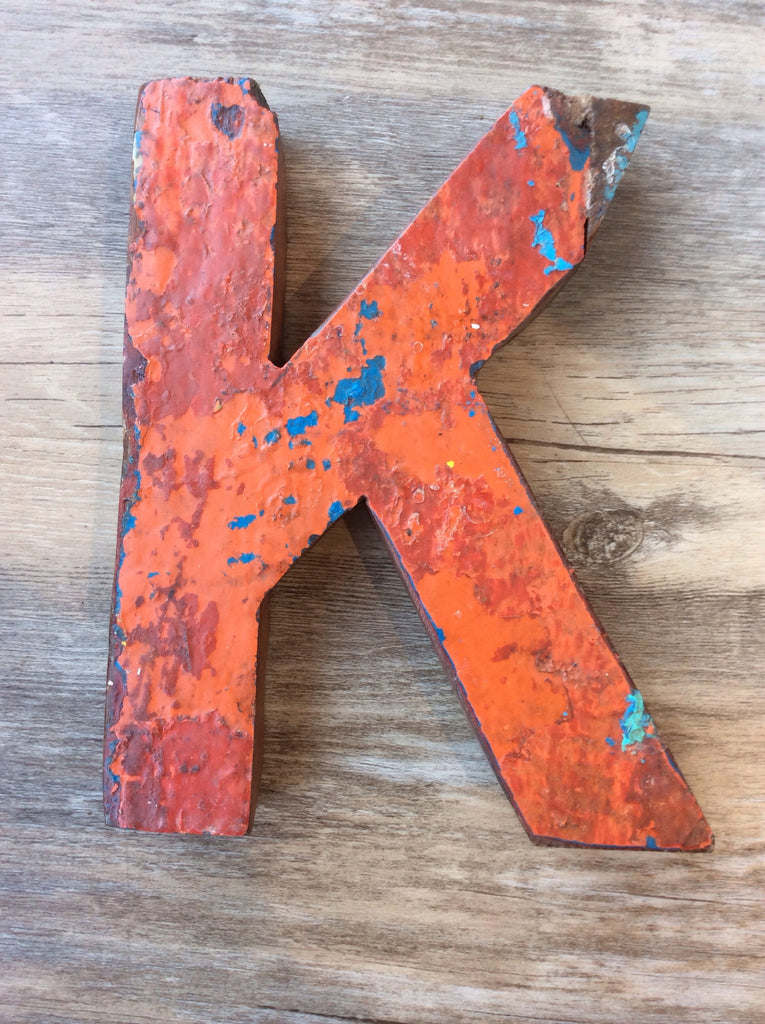 Letter k retired bali fishing boat furniture 7 x4 for Furniture 7 letters