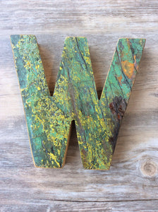 "Letter W - Retired Bali Fishing Boat Furniture - 7""x4"" - #10198-W"