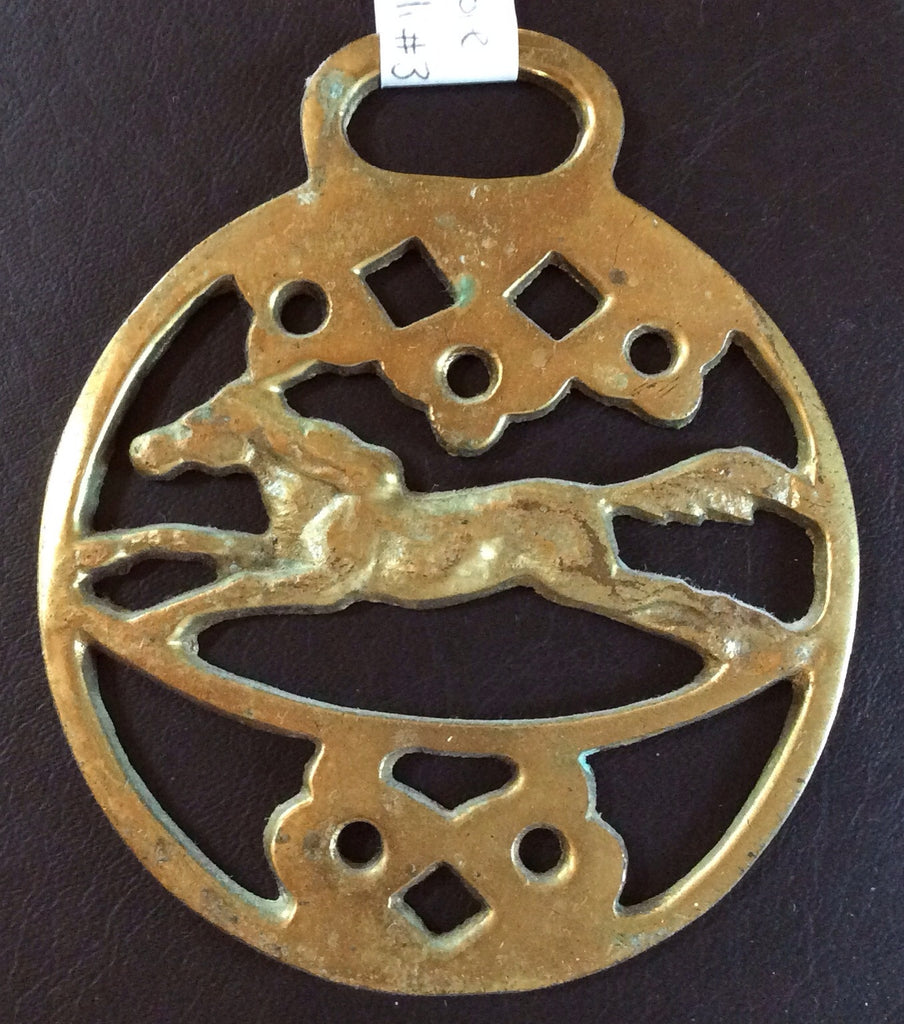 Brass Horse Medallion 3 Red Barn Company Store