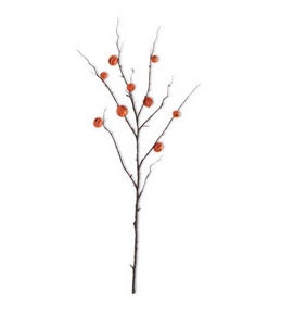 Orange Jack O Lantern Pumpkin Stem-36""