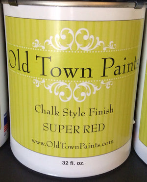 Chalk Style Finish Paint - 32oz - Super Red