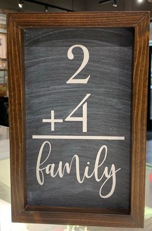 2 + 4  = family sign  3 COLORS SOLD SEPARATELY