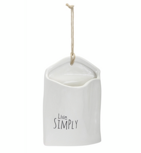 Live Simply Wall Pocket