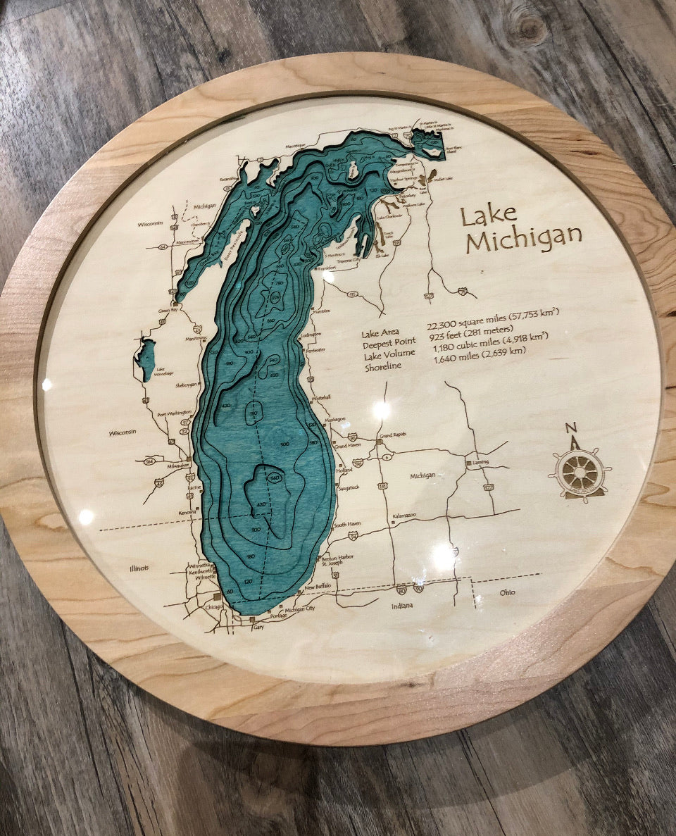 Lake Michigan- Lazy Susan-Bathymetry