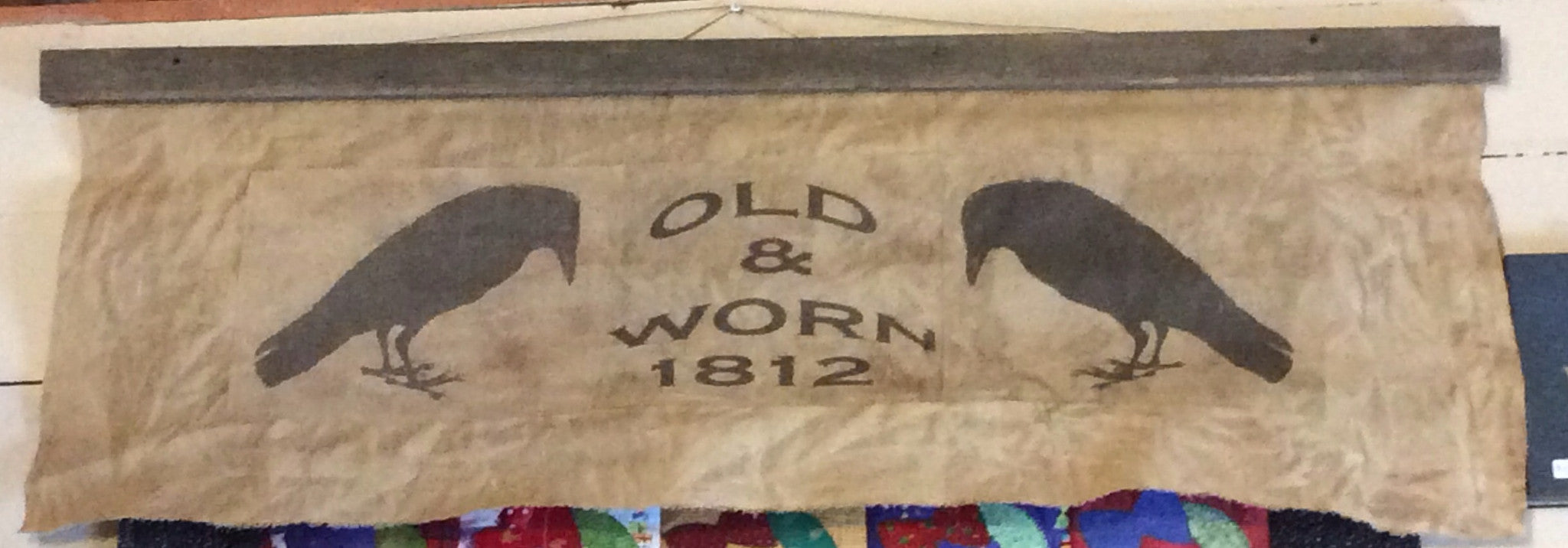 Old and Worn 1812 Wall Hanging