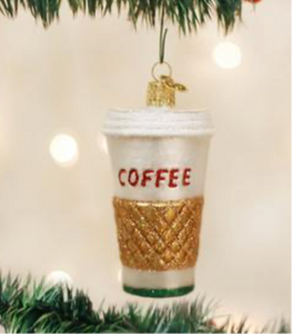 Coffee to Go Ornament - Old World Christmas