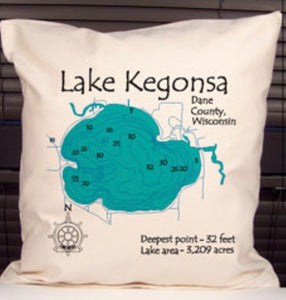 Lake Kegonsa Decorative Pillow