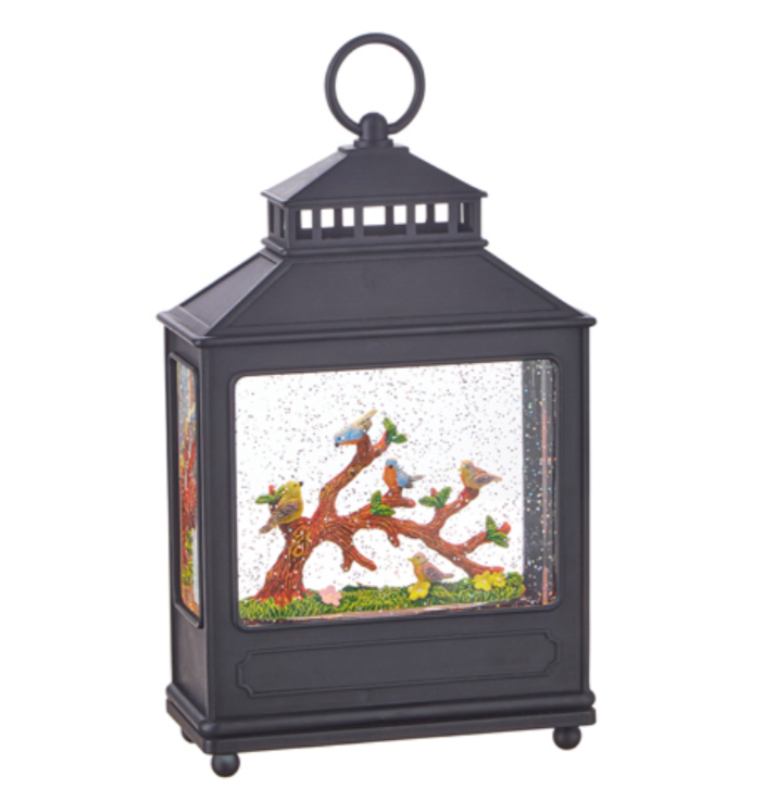 "11"" Birds on Branch Lighted Water Lantern"