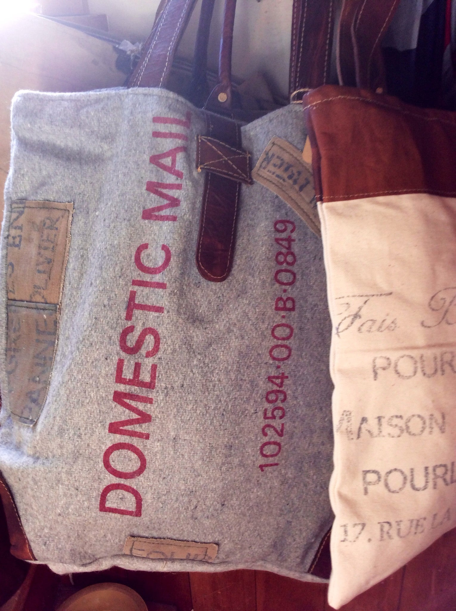 Domestic Mail Gray Reclaimed Bag - Style #3