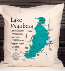 Lake Waubesa Decorative Pillow