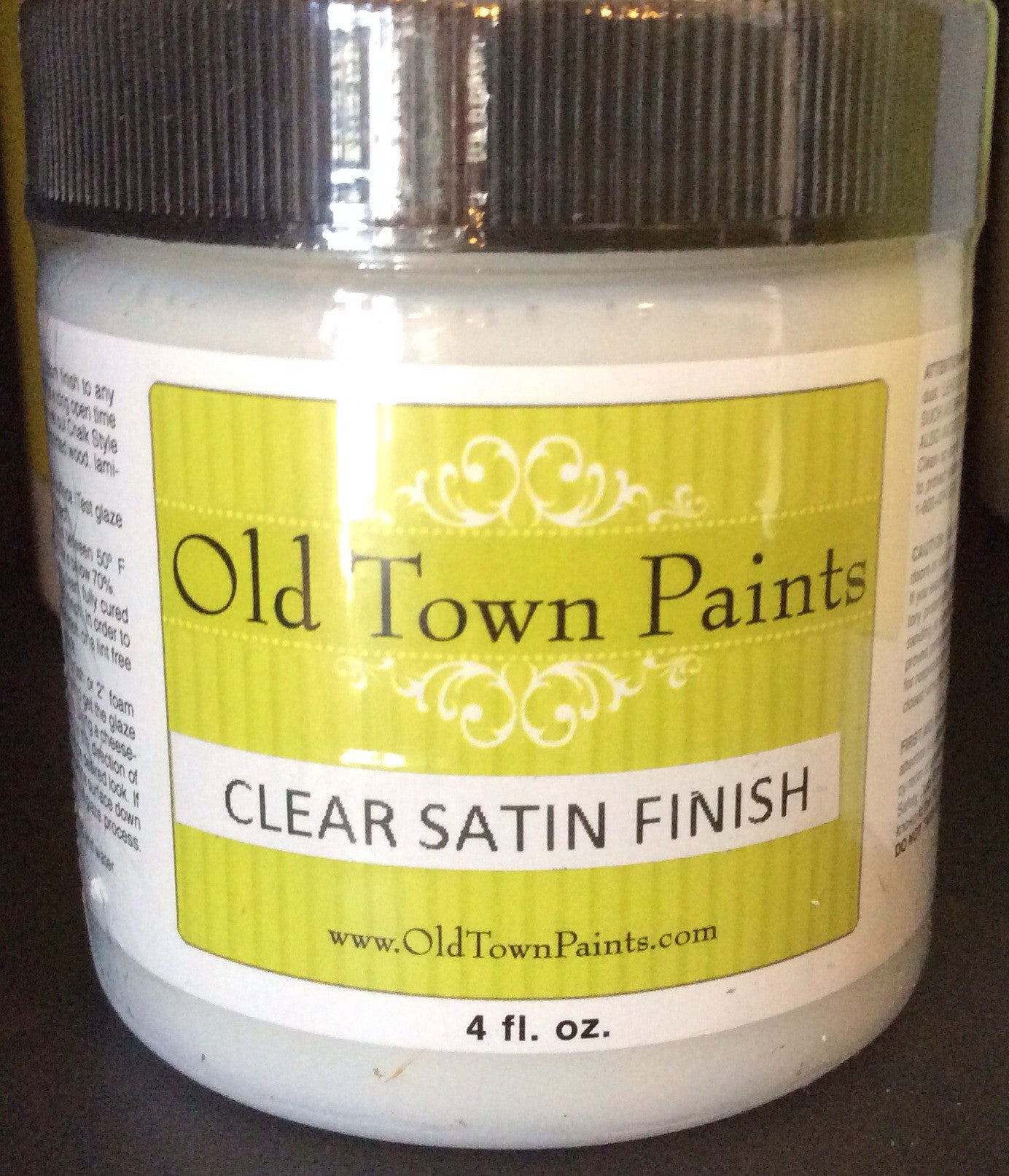 Clear Satin Finish - Non VOC - 4oz