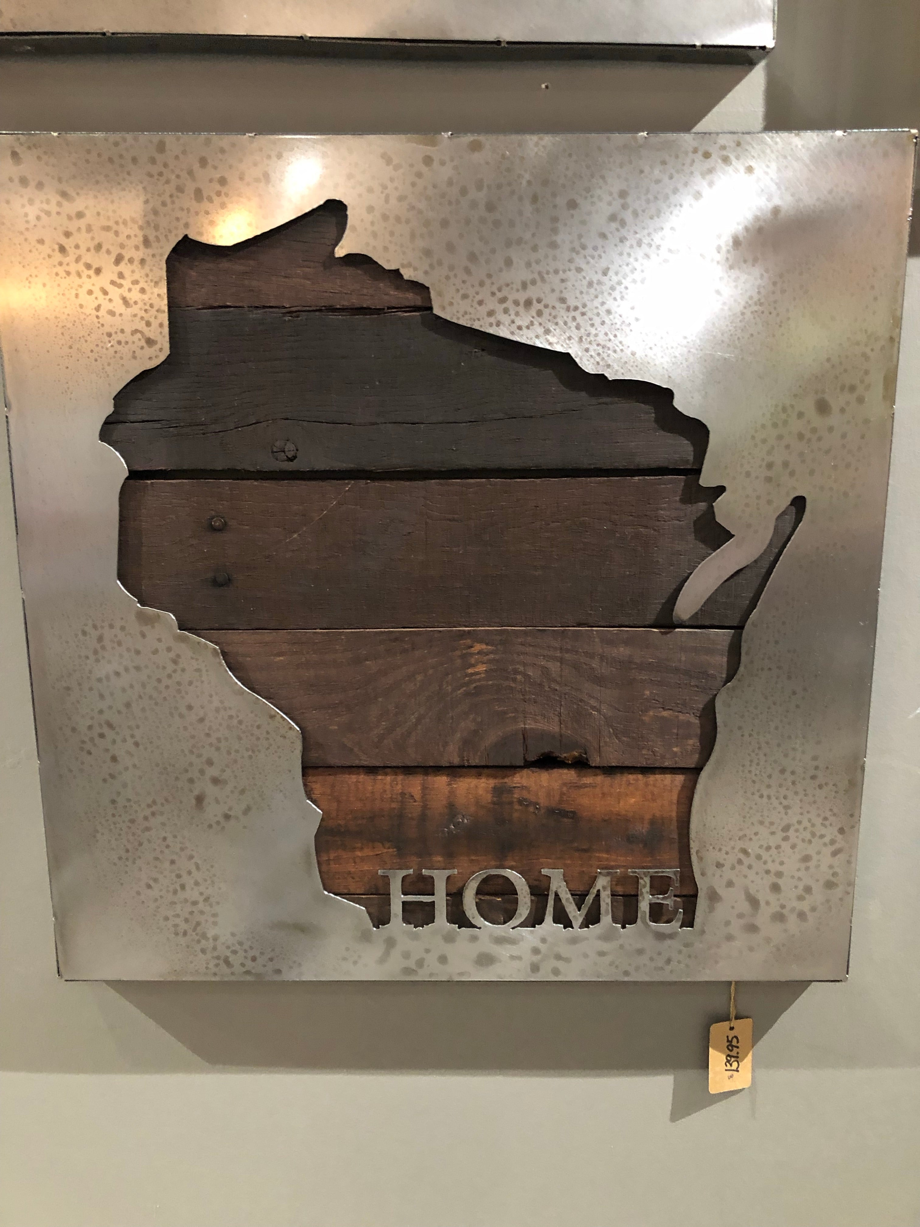 Steel Art-Wisconsin Home(Small)