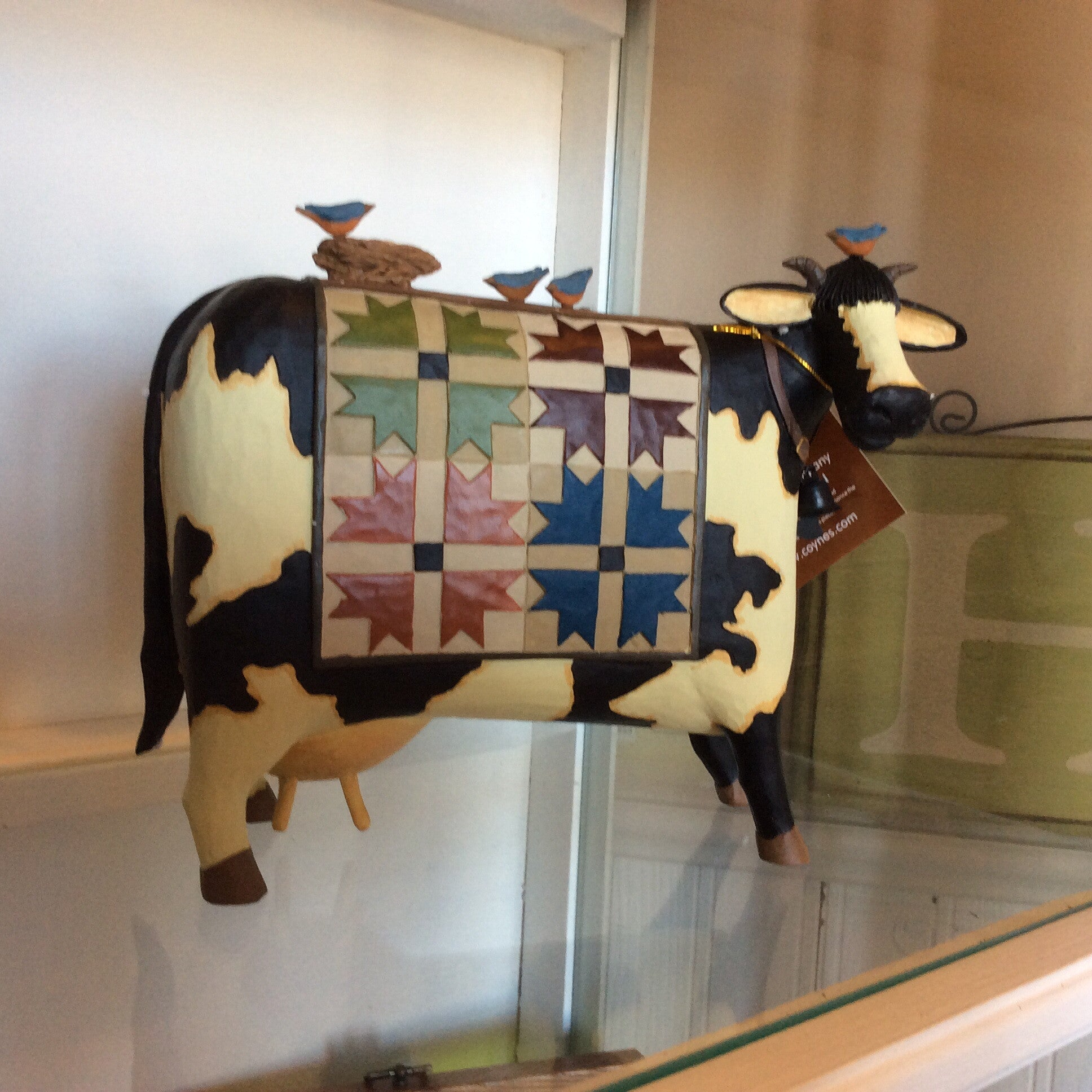 Williraye- Cow with Quilt and Birds