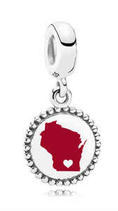 Pandora Wisconsin Heart Dangle