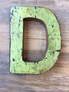 "Letter D - Retired Bali Fishing Boat Furniture - 7""x4"" - #10198-D"