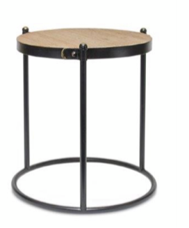 Wood and Metal Accent Table (3 Sizes Sold Separately)