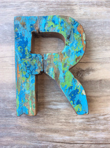 "Letter R - Retired Bali Fishing Boat Furniture - 7""x4"" - #10198-R"