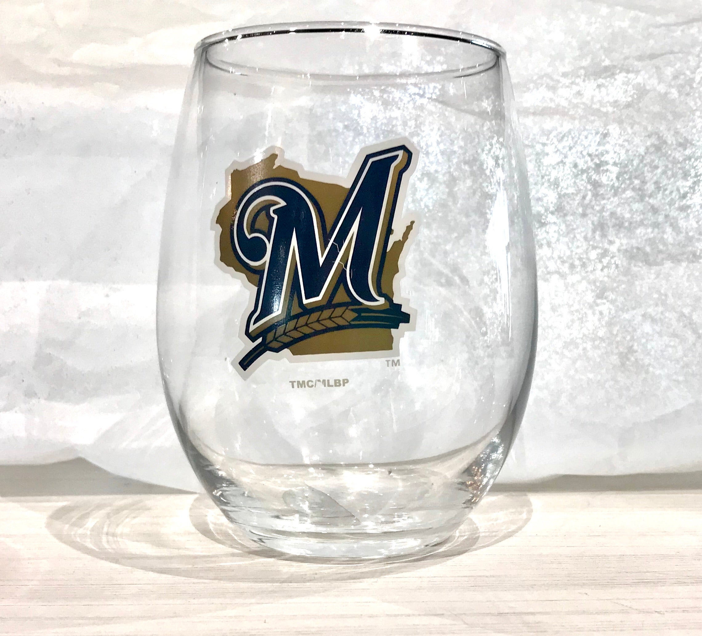 Milwaukee Brewers Stemless Glass Tumbler