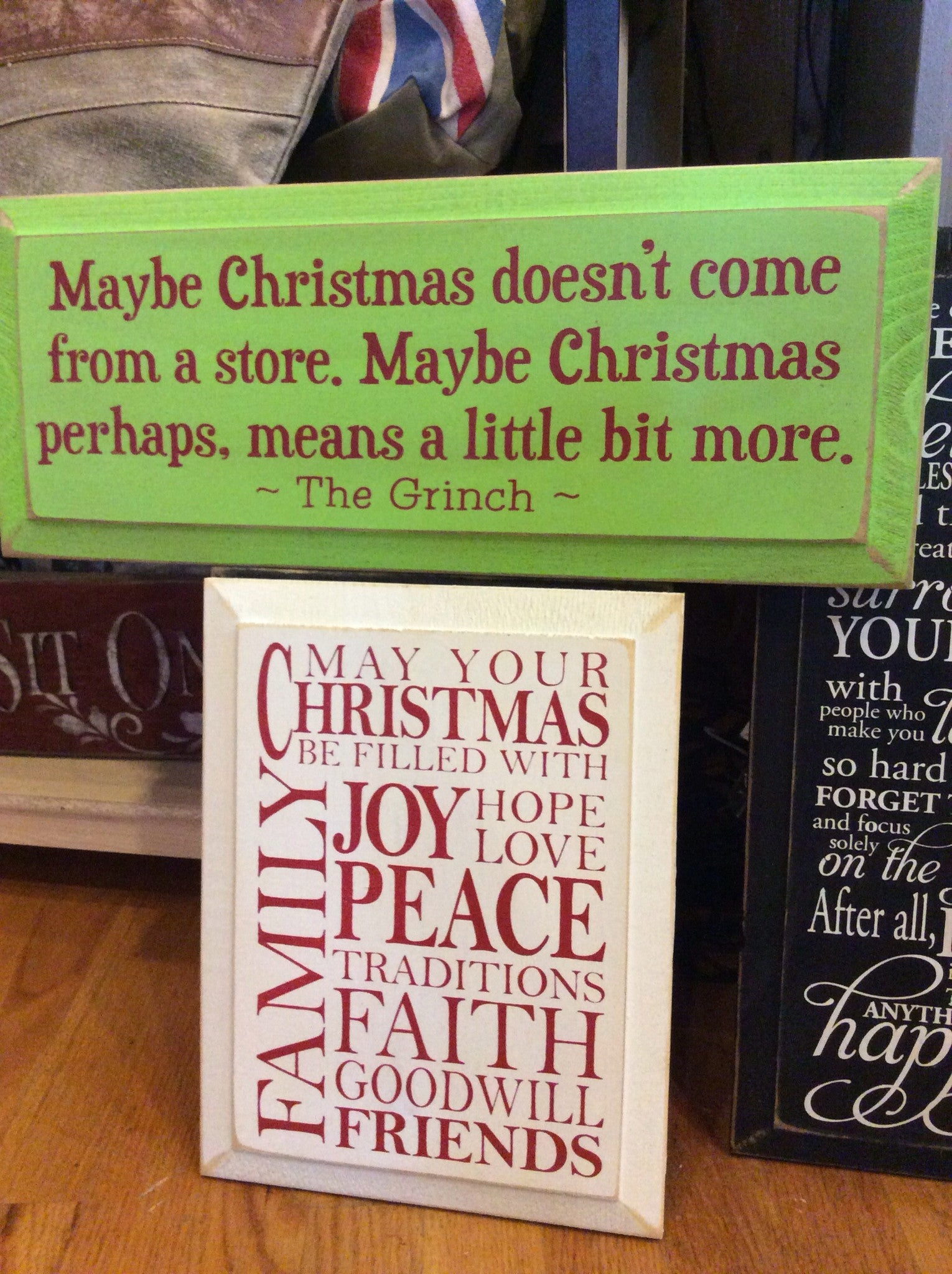 Maybe Christmas Doesn T Come From A Store Wood Sign