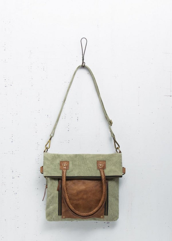 Fold-Over Convertible Tote - Sage - Reclaimed Canvas Bag 7d7e7f9c67bf9