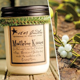 1803 Candles- 14oz Jar - Mistletoe Kisses