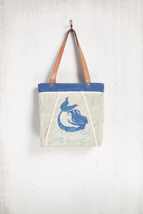 Mermazing Tote - Reclaimed Canvas Tote