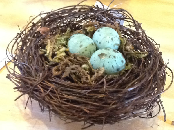 4 Inch Birds Nest With Blue Eggs Red Barn Company Store
