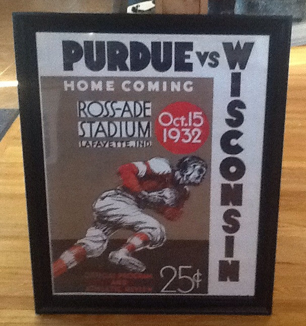Wisconsin vs Purdue Game Day Program Poster 22 x 28