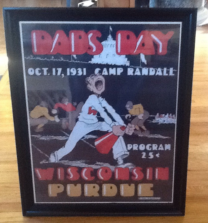 Wisconsin vs Purdue Camp Randall Game Day Program Poster 22 x 28