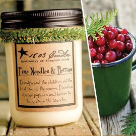 1803 Candles- 14oz Jar - Pine Needles and Berries
