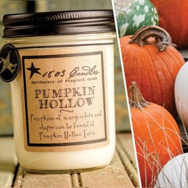 1803 Candles- 14oz Jar - Pumpkin Hollow