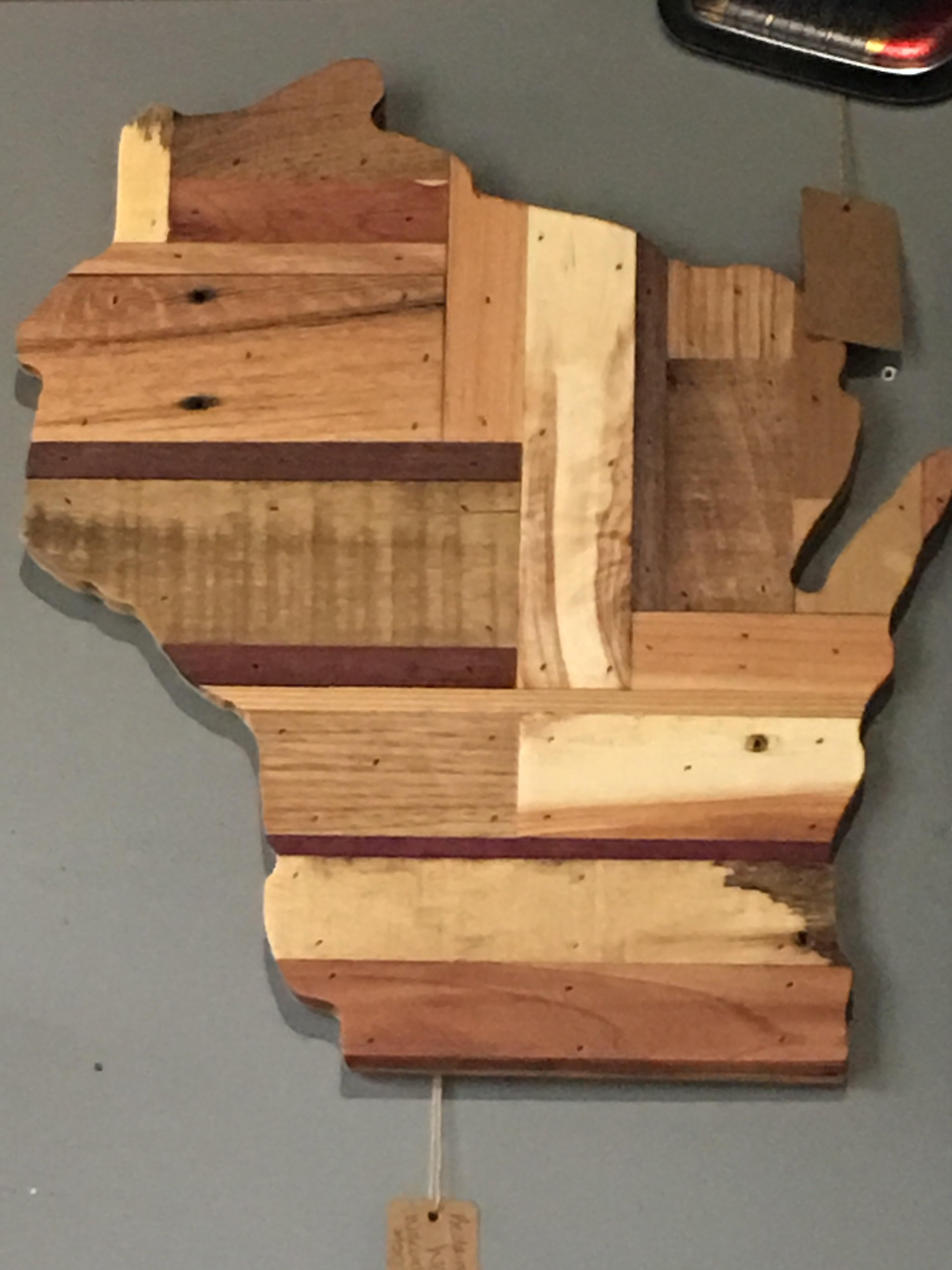 State Of Wisconsin - Reclaimed Wood - Small