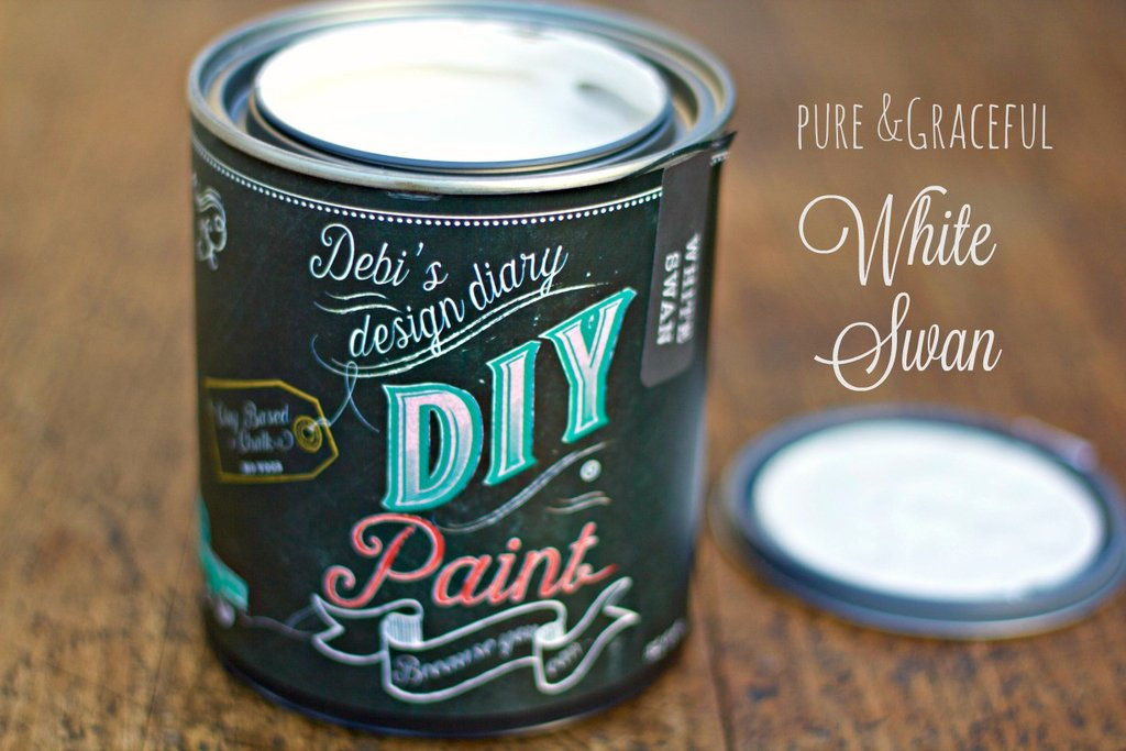 DIY Paint - White Swan - Clay Based + Chalk