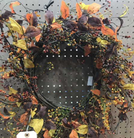 Fall leaf and twig wreath- YYW6068