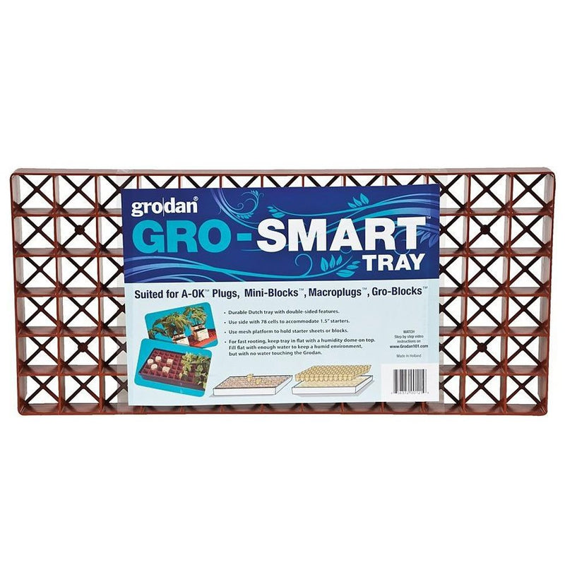 GRODAN GRO-SMART TRAY DOUBLE SIDED 78 CELLS (5) - HydroponicsClub
