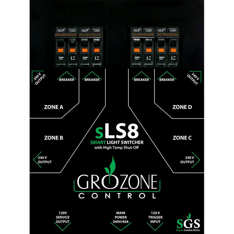 GROZONE SLS8 SMART LIGHT SWITCHER - HydroponicsClub