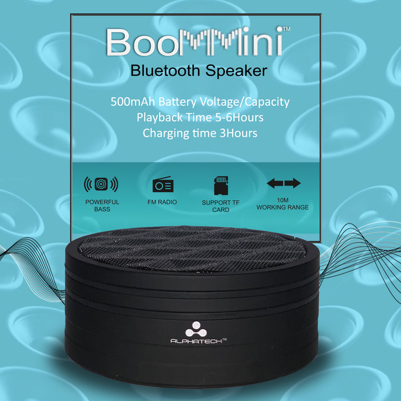 BoomMini Bluetooth Speaker Blk