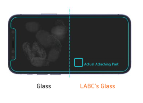 LAB.C Tempered Glass Full Cover Diamond Black