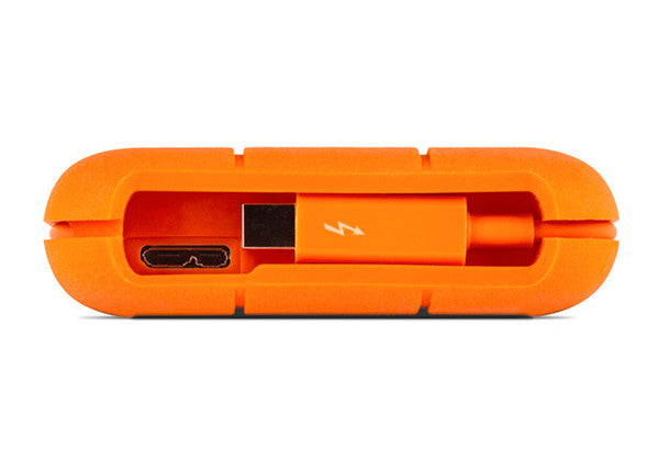 Lacie Rugged Thunderbolt & USB3 with integrated Thunderbolt cable 1TB