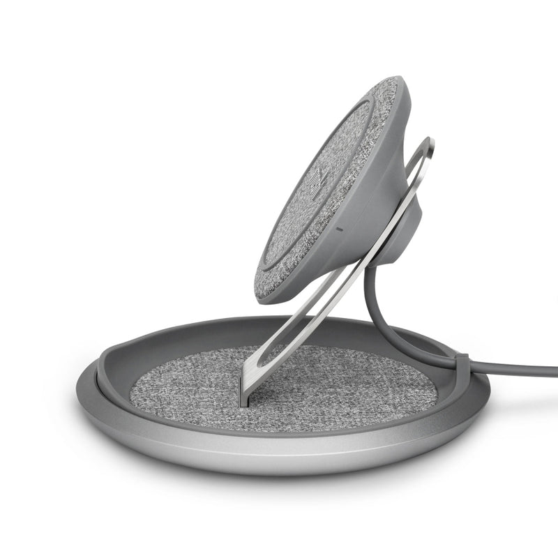 Moshi Lounge Q Wireless Charging Stand Gray