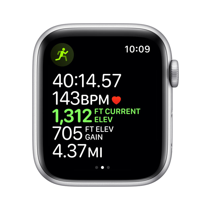 Apple Watch Series 5 - Silver Aluminum Case with Sport Band