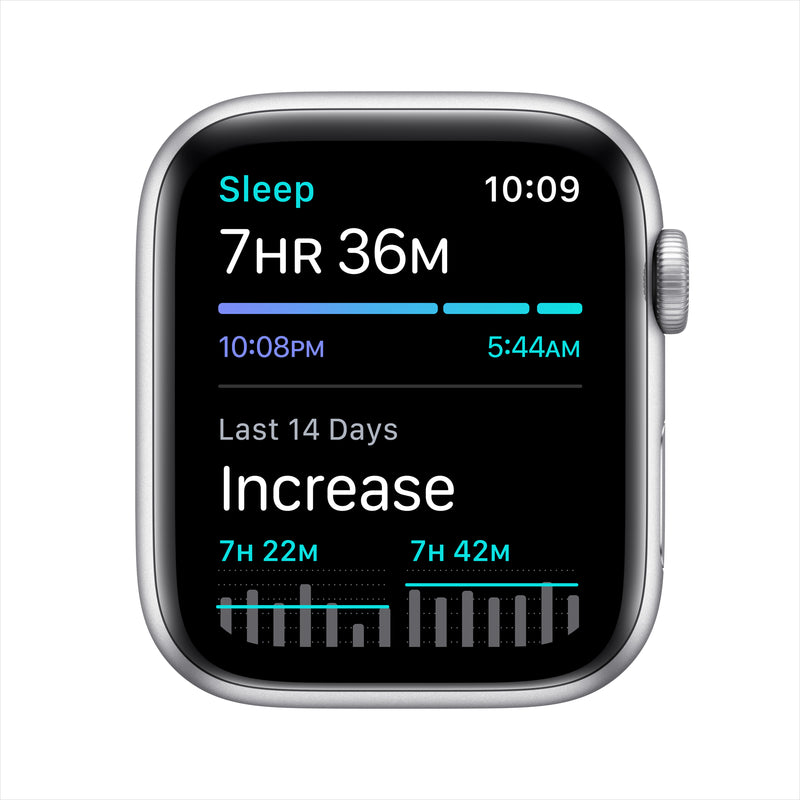 Apple Watch Nike SE GPS - Silver Aluminum Case with Pure Platinum/Black Nike Sport Band
