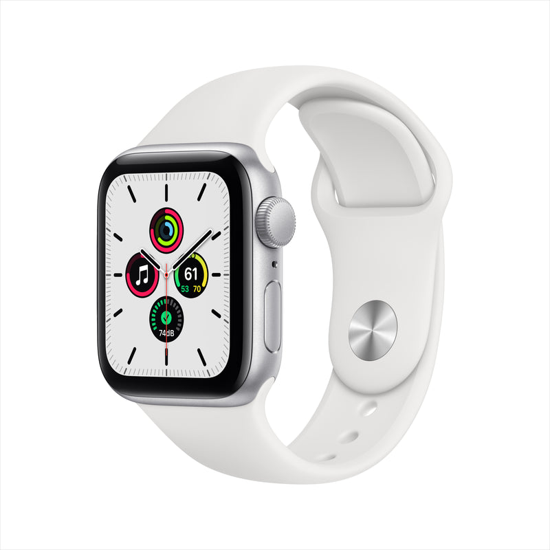 Apple Watch SE GPS - Silver Aluminum Case with White Sport Band