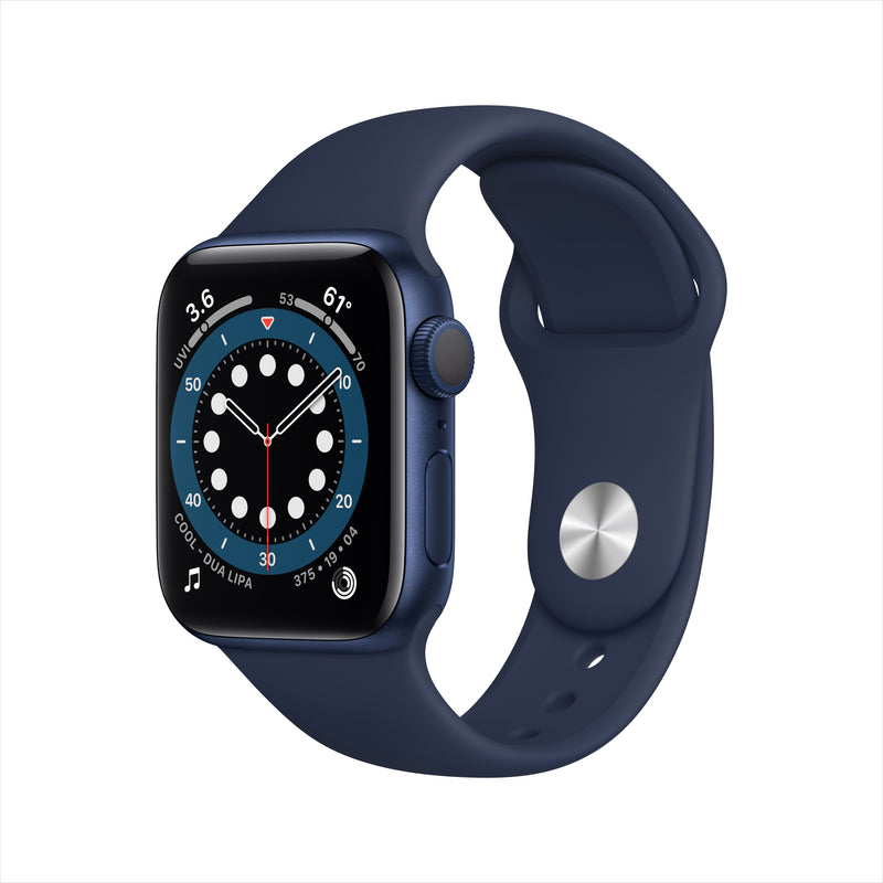 Apple Watch Series 6 GPS - Blue Aluminium Case with Deep Navy Sport Band