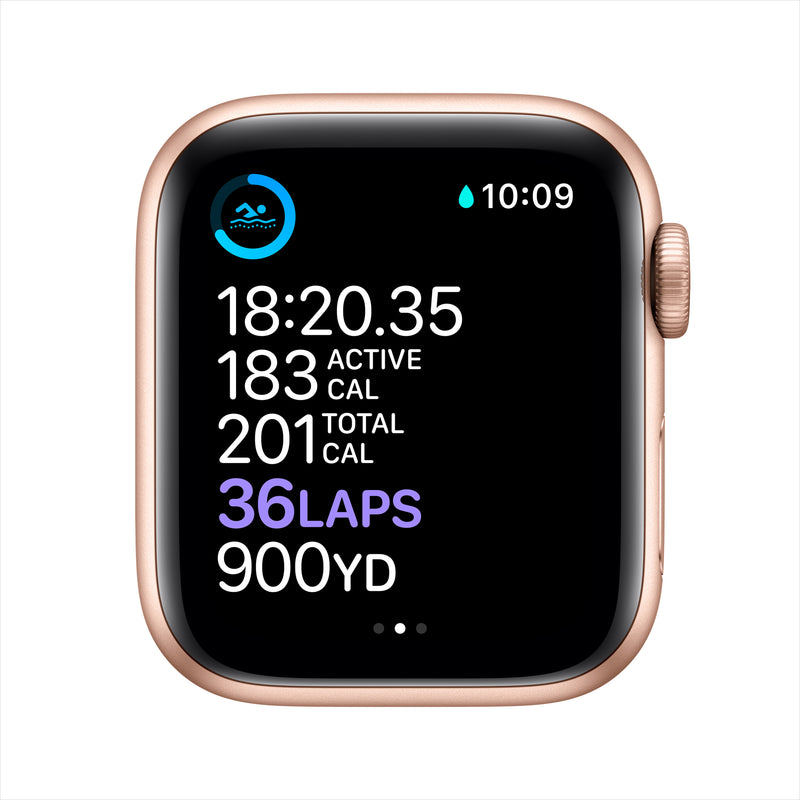 Apple Watch Series 6 GPS - Gold Aluminium Case with Pink Sand Sport Band