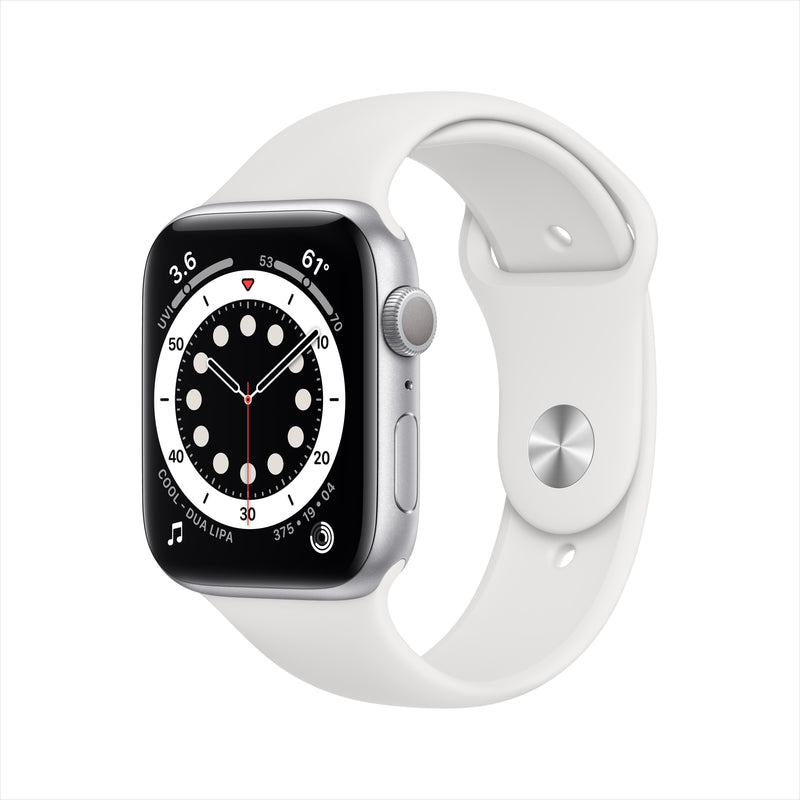 Apple Watch Series 6 GPS - Silver Aluminium Case with White Sport Band