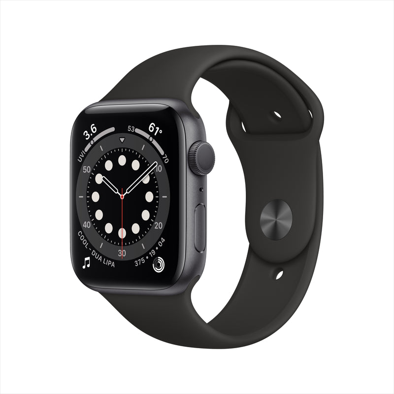 Apple Watch Series 6 GPS - Space Gray Aluminium Case with Black Sport Band