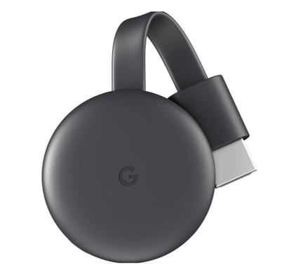 Dispositivo Transmisor de Video Chromecast Gen 3, Full HD, WiFi, HDMI, Color Negro, GOOGLE GA00439
