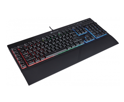 Teclado Gamer K55 RGB LED, Alámbrico, Cable 1.5m, Color Negro, (Versión Español), CORSAIR CH-9206015-SP